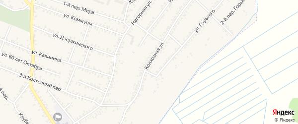 Колхозная улица на карте села Печни с номерами домов