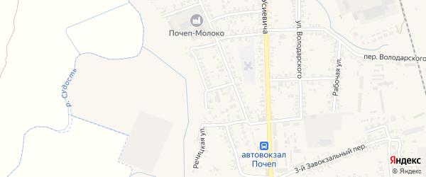 2-й Трубчевский переулок на карте Почепа с номерами домов