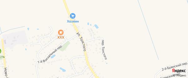 Переулок Толстого на карте Почепа с номерами домов