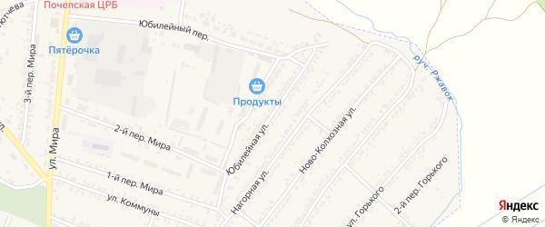 Юбилейная улица на карте Почепа с номерами домов