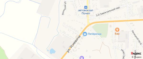 2-й Почепский переулок на карте Почепа с номерами домов