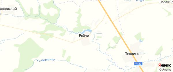 Карта территории Рябчинского сельского поселения Брянской области с районами, улицами и номерами домов