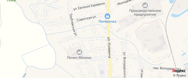 Комсомольская улица на карте Почепа с номерами домов