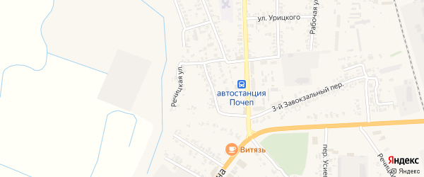 Речицкая улица на карте Почепа с номерами домов