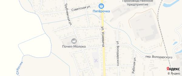 Заводская улица на карте Почепа с номерами домов