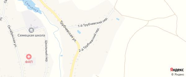2-й Трубчевский переулок на карте села Семцев с номерами домов