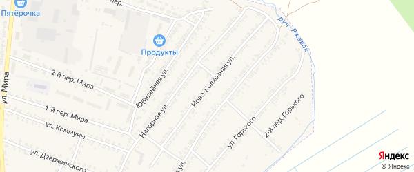 Ново-Колхозная улица на карте Почепа с номерами домов