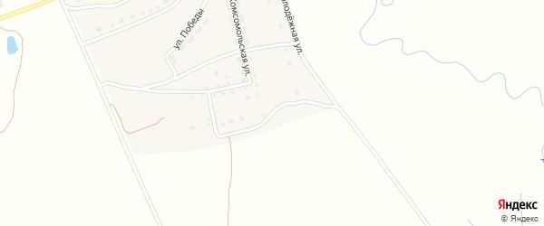 Комсомольский 2-й переулок на карте села Рябчи с номерами домов