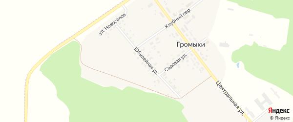 Юбилейная улица на карте поселка Громыки с номерами домов