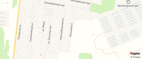 Речицкая улица на карте поселка Речицы с номерами домов