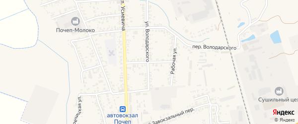 Улица Урицкого на карте Почепа с номерами домов