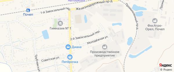 2-й Завокзальный переулок на карте Почепа с номерами домов