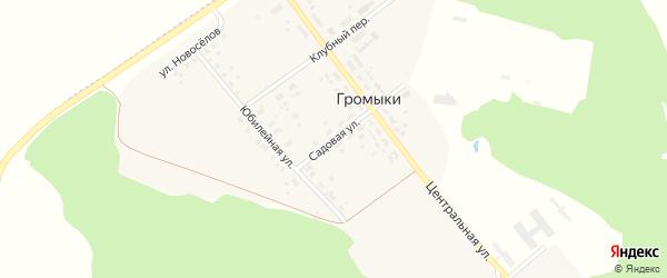 Садовая улица на карте поселка Громыки с номерами домов