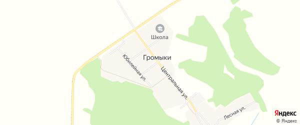 Карта поселка Громыки в Брянской области с улицами и номерами домов