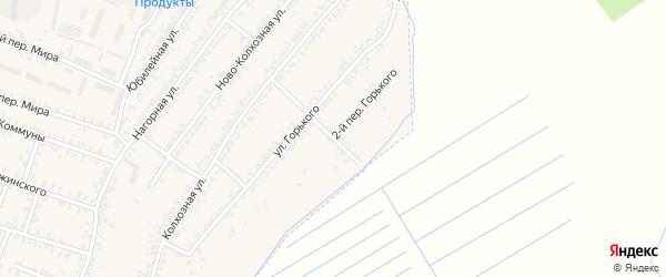 Переулок 1-й Горького на карте Почепа с номерами домов