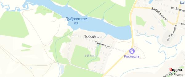 Карта Побойной деревни в Брянской области с улицами и номерами домов