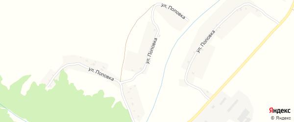 Улица Поповка на карте села Рябчи с номерами домов