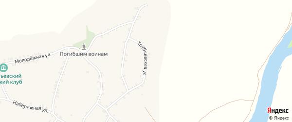 Трубчевская улица на карте деревни Сагутьево с номерами домов