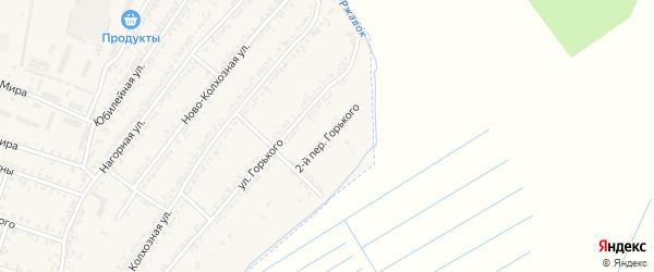 Переулок 2-й Горького на карте Почепа с номерами домов