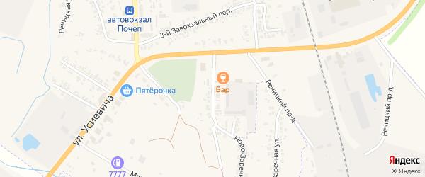 Переулок Усиевича на карте Почепа с номерами домов