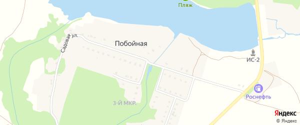 Садовая улица на карте Побойной деревни с номерами домов