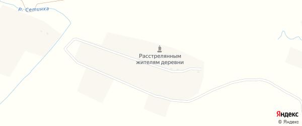 Улица Борьба на карте деревни Буды с номерами домов