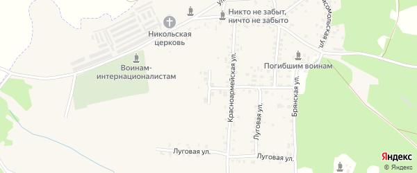 Садовая улица на карте поселка Белой Березки с номерами домов