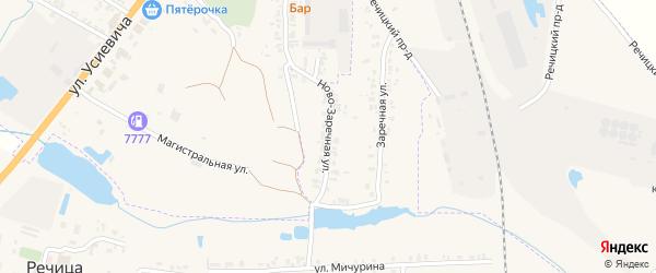 Ново-Заречная улица на карте поселка Речицы с номерами домов