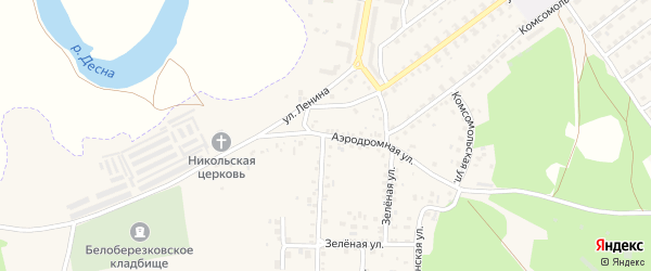 Аэродромная улица на карте поселка Белой Березки с номерами домов