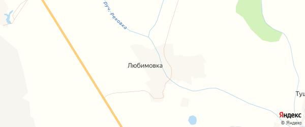 Карта деревни Любимовки в Брянской области с улицами и номерами домов