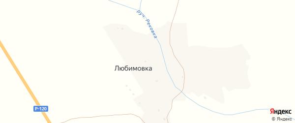 Медовая улица на карте деревни Любимовки с номерами домов