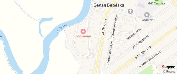 Первомайская улица на карте поселка Белой Березки с номерами домов