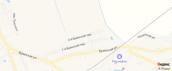 2-й Брянский переулок на карте Почепа с номерами домов