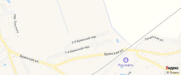 Брянский переулок на карте Почепа с номерами домов