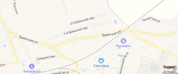 Брянская улица на карте Почепа с номерами домов