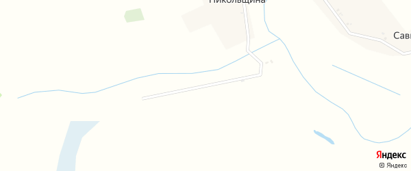 Заречная улица на карте деревни Никольщины с номерами домов