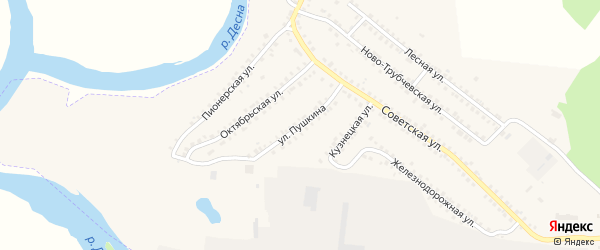 Улица Пушкина на карте поселка Белой Березки с номерами домов