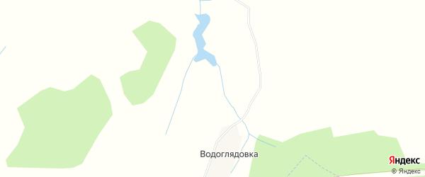 Карта деревни Водоглядовки в Брянской области с улицами и номерами домов