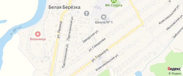 Улица Чапаева на карте поселка Белой Березки с номерами домов