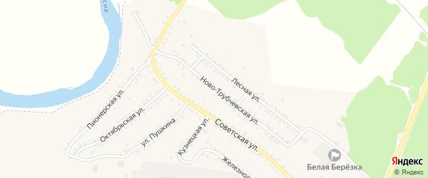 Ново-Трубчевская улица на карте поселка Белой Березки с номерами домов