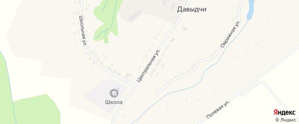 Центральная улица на карте деревни Давыдчичи с номерами домов