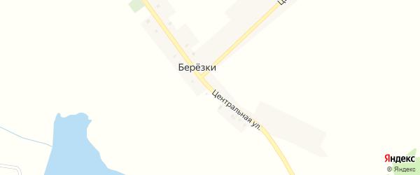 Центральная улица на карте поселка Березки с номерами домов