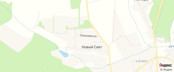 Карта поселка Нового Света в Брянской области с улицами и номерами домов