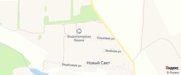 Ольховая улица на карте поселка Дубровки с номерами домов