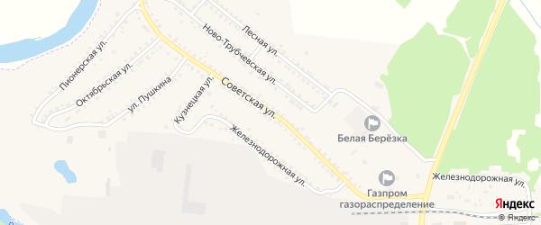 Советская улица на карте поселка Белой Березки с номерами домов