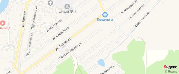 Комсомольская улица на карте поселка Белой Березки с номерами домов