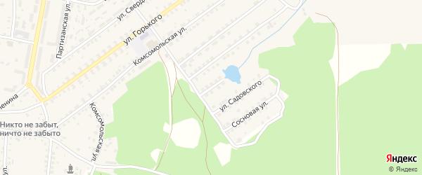 Улица Бомбина на карте поселка Белой Березки с номерами домов