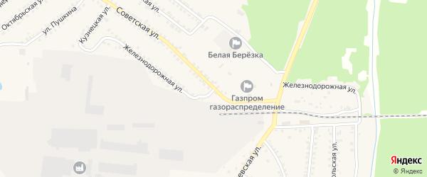 Железнодорожная улица на карте поселка Белой Березки с номерами домов
