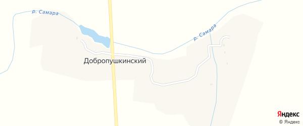 Брянская улица на карте Добропушкинского поселка с номерами домов