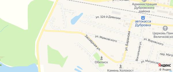 Заозерная улица на карте поселка Дубровки с номерами домов
